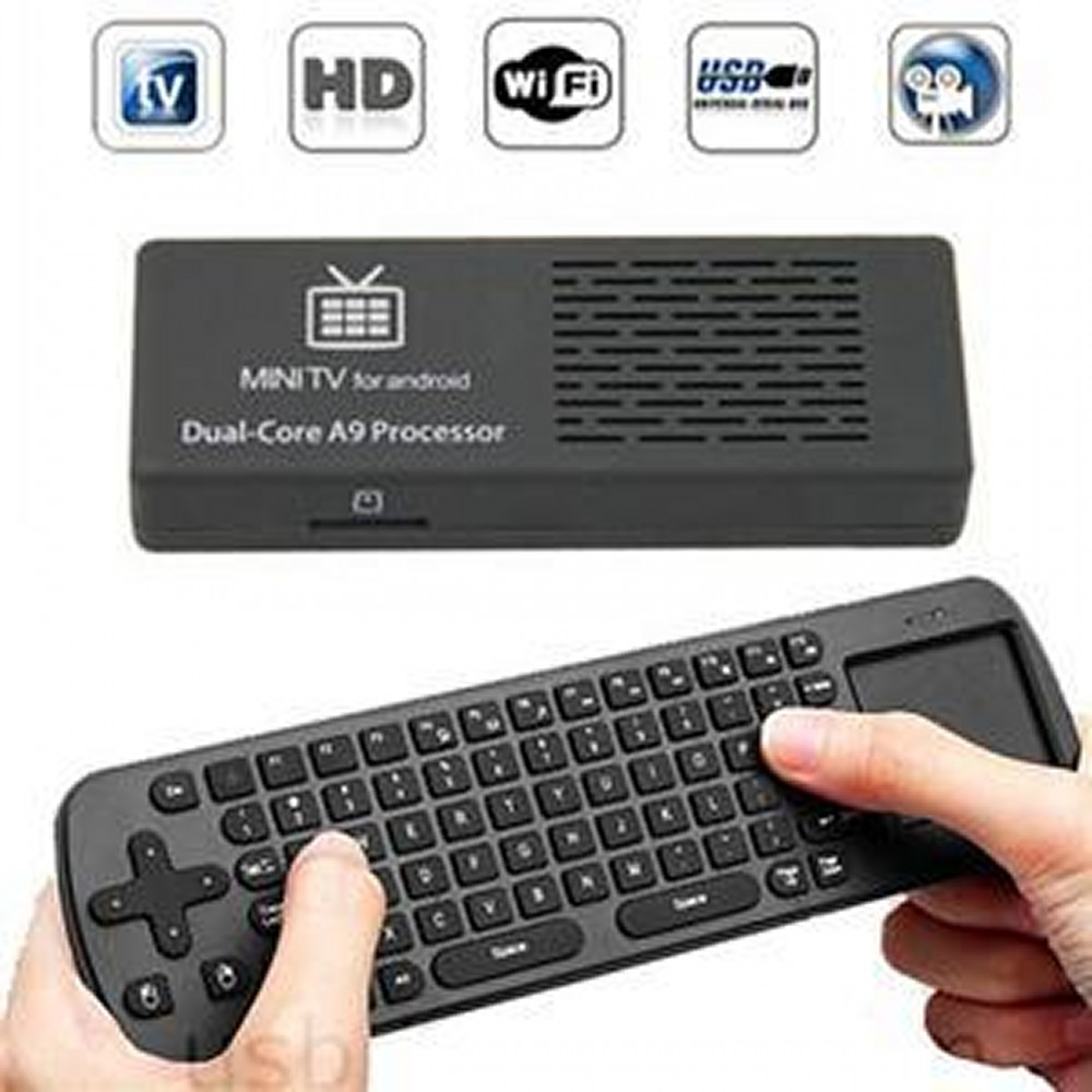 Android 4.1 OS TV box mini pc DDR3 1G 8G+Air Fly Mouse